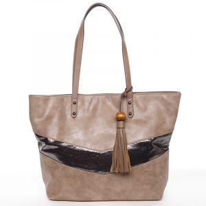 Velká módní trendy kabelka přes rameno tmavá camel – David Jones Chetona Camel