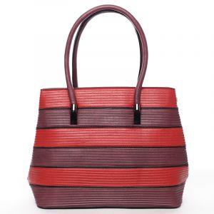 Módní dámská kabelka přes rameno tmavě červená – MARIA C Elaina červená