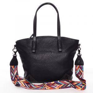 Jemná elegantní dámská černá kabelka – Maria C Grete černá
