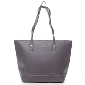 Dámská kabelka přes rameno tmavě šedá – David Jones Yakini šedá