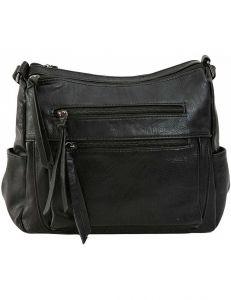 černá crossbody kabelka se zipy vel. ONE SIZE 131600-550180