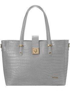 Badura šedá elegantní kožená shopper bag vel. ONE SIZE 141092-550199