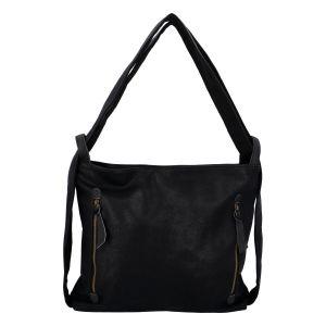 Velká dámská kabelka přes rameno černá – Paolo Bags Aruti černá