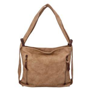 Velká dámská kabelka přes rameno pískově hnědá – Paolo Bags Aruti béžová