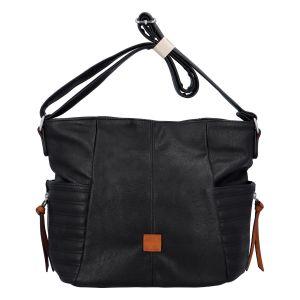 Dámská kabelka přes rameno černá – Paolo Bags SaMi Two černá