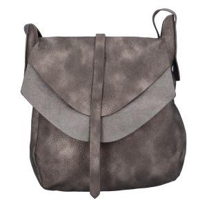 Dámská módní kabelka přes rameno stříbrná – Paolo Bags Aethiops stříbrná