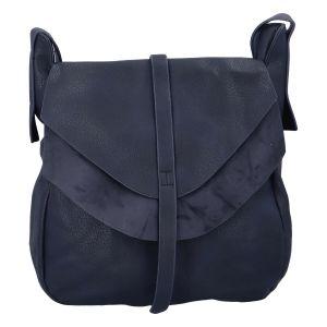 Dámská módní kabelka přes rameno tmavě modrá – Paolo Bags Aethiops tmavě modrá