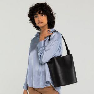 Černá vegan kabelka s pouzdrem AZUR VINTAGE 83921