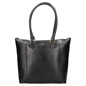 Dámská kožená kabelka Ashwood Ellie – černá