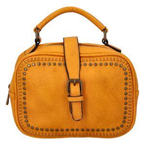 Dámská originální kabelka tmavě žlutá – Paolo Bags Sami žlutá