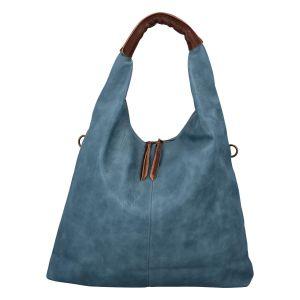 Velká dámská kabelka modrá – Paolo Bags Mansoi modrá