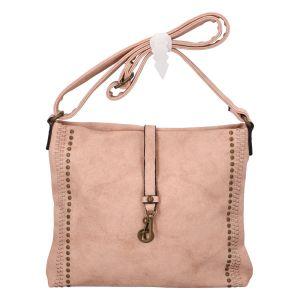 Dámská crossbody kabelka světle růžová – Paolo Bags WilMary růžová