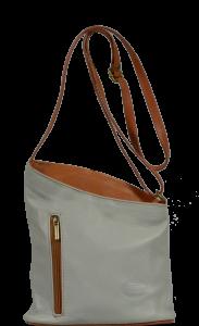 Malé kožené kabelky Angola Grigia Camel