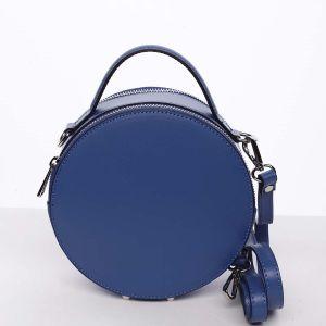 Malá královsky modrá elegantní dámská kožená kabelka – ItalY Husna modrá