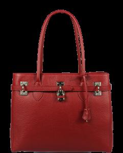 Italská kožená kabelka Azra Grande Rossa Scura
