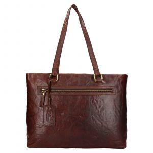 Dámská kožená kabelka Ashwood Lolita – tmavě hnědá