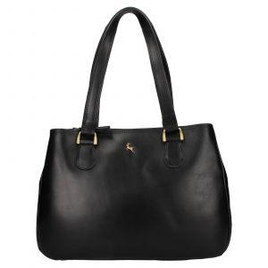 Dámská kožená kabelka Ashwood Lalita – černá