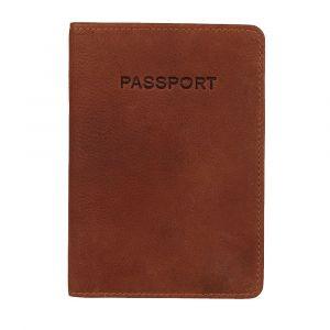 Obal na cestovní pas Burkely Avery – koňak