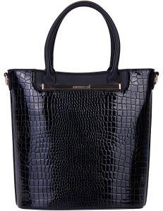 Modrá lakovaná kožená shopper kabelka monnari vel. ONE SIZE 149655-555798