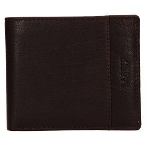Pánská kožená peněženka Lagen Denton – hnědá