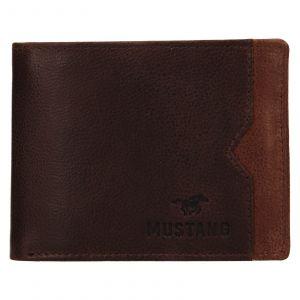 Pánská kožená peněženka Mustang Gart – hnědá