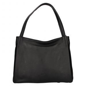 Elegantní dámská kožená kabelka Katana Alvana – černá