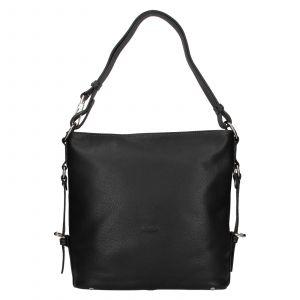 Elegantní dámská kožená kabelka Katana Nantes – černá