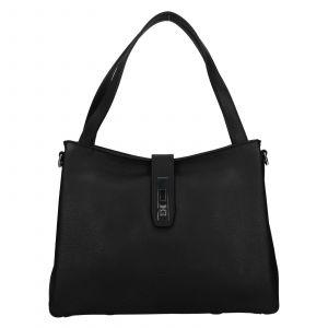 Elegantní dámská kožená kabelka Katana Cenia – černá