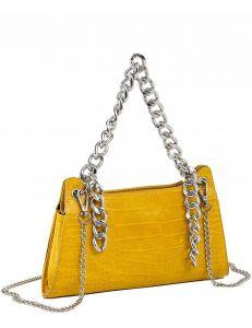 žlutá dámská crossbody kabelka s řetízky vel. ONE SIZE 139646-556853