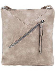 Tmavě béžová dámská kabelka s prošíváním vel. ONE SIZE 148168-556870