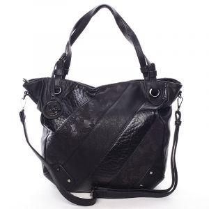 Dámská elegantní kabelka černá se vzorem – Maria C Eirene černá