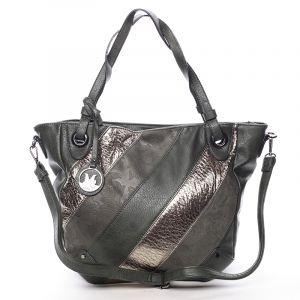 Dámská elegantní kabelka tmavě zelená se vzorem – Maria C Eirene zelená