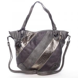 Dámská elegantní kabelka šedá se vzorem – Maria C Eirene šedá