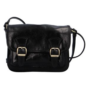 Dámská kožená crossbody kabelka černá – ItalY Piedri černá