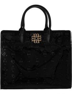 černá lesklá shopper kabelka monnari vel. ONE SIZE 150516-560250