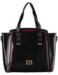 černá lakovaná shopper kabelka monnari vel. ONE SIZE 150517-560251
