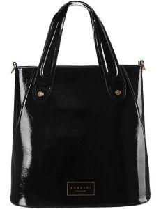 černá lesklá shopper kabelka monnari vel. ONE SIZE 150522-560256