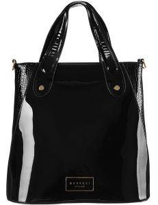 černá lesklá shopper kabelka monnari vel. ONE SIZE 150527-560261