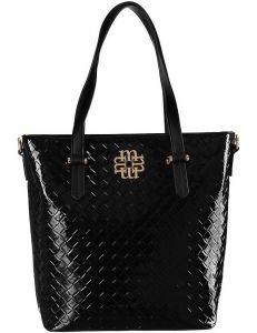 černá lakovaná shopper kabelka monnari vel. ONE SIZE 150830-561183