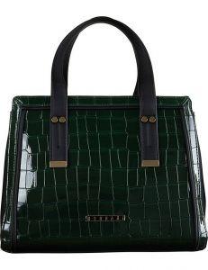 Zeleno-černá lakovaná kabelka monnari vel. ONE SIZE 150837-561190