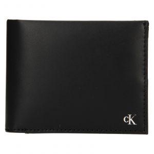 Pánská kožená peněženka Calvin Klein Leeb – černá