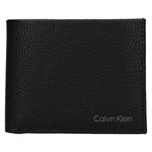 Pánská kožená peněženka Calvin Klein Delne – černá