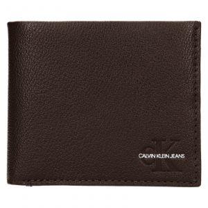 Pánská kožená peněženka Calvin Klein Seba – hnědá