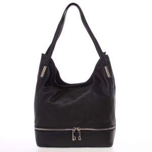 Dámská kožená měkká kabelka přes rameno černá – ItalY Nellis černá