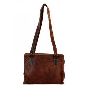 Dámská kožená kabelka přes rameno světle hnědá – Greenwood Kamille hnědá