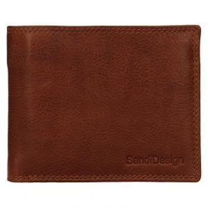 Pánská kožená peněženka SendiDesign Lopezz – koňak