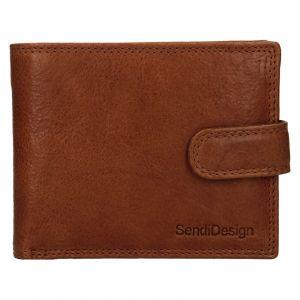 Pánská kožená peněženka SendiDesign Dowsn – koňak