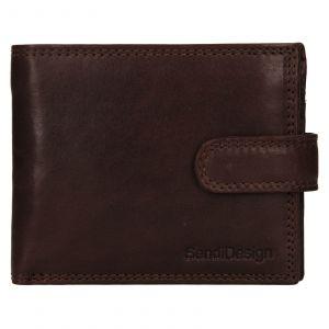Pánská kožená peněženka SendiDesign Dowsn – tmavě hnědá