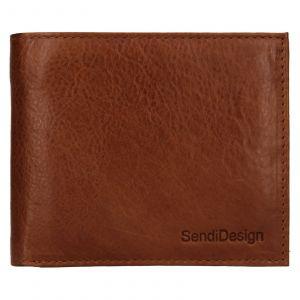 Pánská kožená peněženka SendiDesign Bredly – koňak