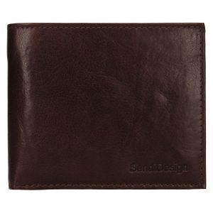Pánská kožená peněženka SendiDesign Bredly – tmavě hnědá